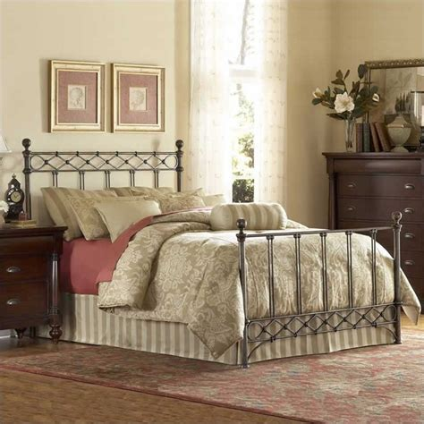 443 fashion bed argyle metal poster bed in copper