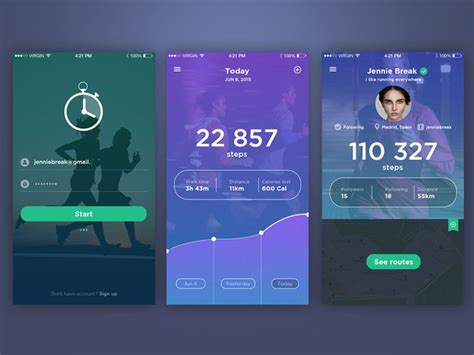 design elements for apps fitness tracker app nice be nice and design elements