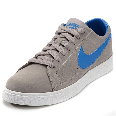 and boys shoes nike blazer low sports trainers shoes grey blue infant