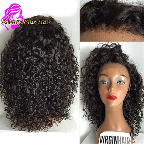 kinky curly human hair full lace front wigs aliexpress com buy 7a short kinky curly lace front wigs