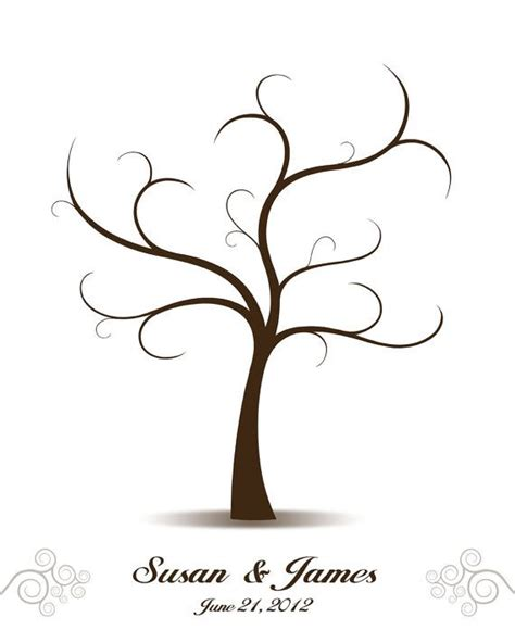 thumbprint family tree template wedding tree guest book birds guest book alternative