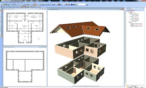 Visual Building 3d Home Design Software Free Visual Building Topic Exploded House View 1 1