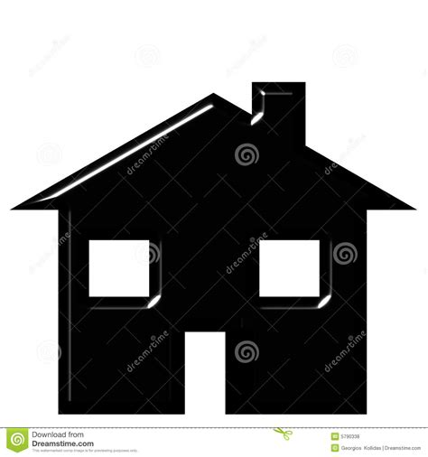 house silhouette royalty  stock  image