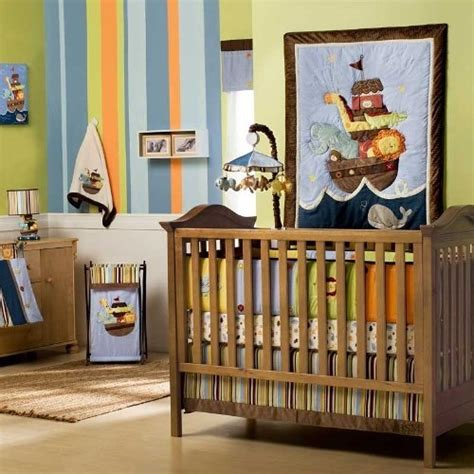 Ss Noah Crib Bedding Noah S Ark Baby Nursery Theme Boy Baby Boy Nursery