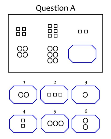 pattern iq questions with answers iq test