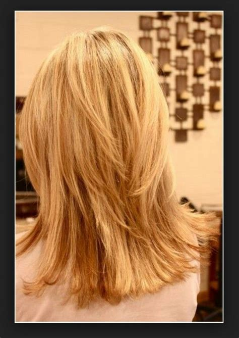 medium layered haircuts back view shoulder length layered hair back view beauty pinterest