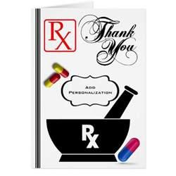 custom pharmacist thank you greeting card zazzle