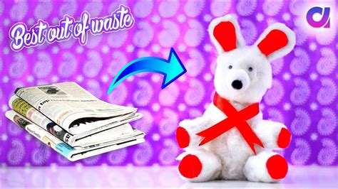 How To Make Teddy With Paper - how to make teddy from news paper newspaper craft