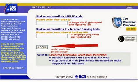 bca user id cara daftar internet banking bca di atm dan aktivasi
