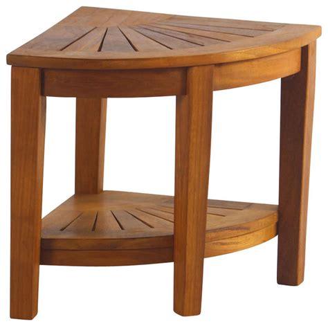 teak corner shower bench teak corner stool with shelf traditional shower