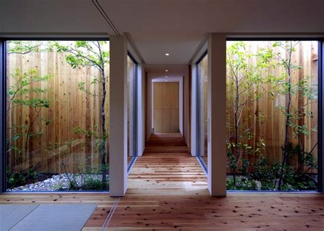 houses with courtyards in the middle minimalist wooden house with a courtyard in the middle of