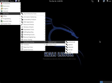 kali linux android hacker distribution screenshot tour backtrack nachfolger kali linux 1 0 187 linux spiele