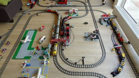 youtube lego layout huge lego 9 volt train dream layout fully automated by