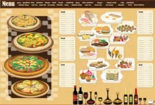 html menu design templates restaurant menu design template vector free vector in