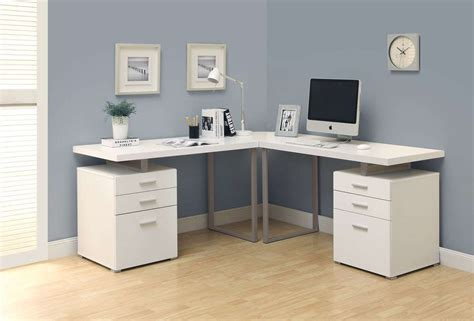 White Desk L Shaped Monarch Specialties White L Shaped Corner Desk Goedekers
