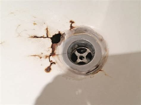 repairing bathtub drain bathtub drain overflow rust hole repair