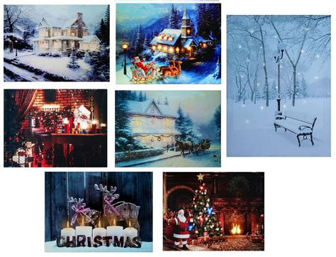 lighted canvas on pinterest light up canvas canvas led light up christmas canvas pictures 30cm x 40cm xmas
