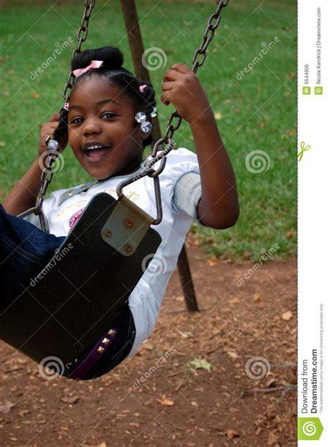 little girl on swing little girl in swing royalty free stock image image 6544906
