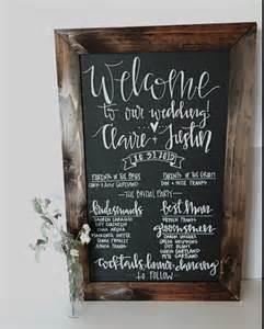 chalkboard program wedding wedding program chalkboard sign rustic wedding program