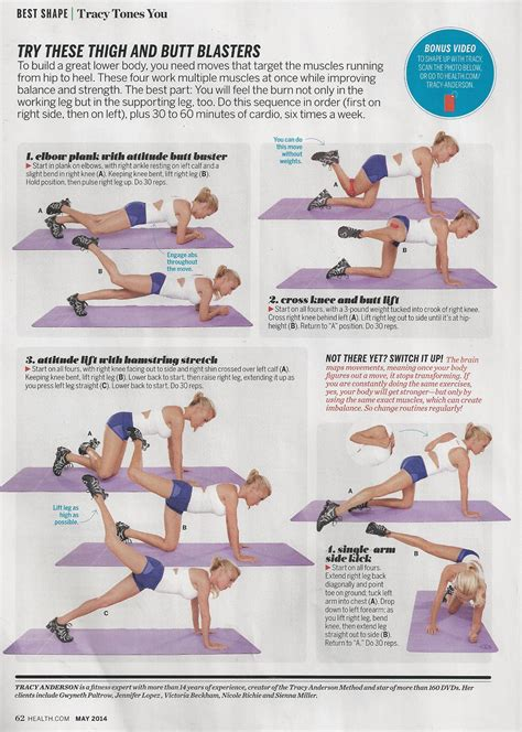 fitness on tracy tone it up and health magazine