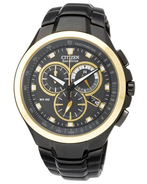 Watches Exclusively At by Citizen S Chronograph Eco Drive Black Ion Plated