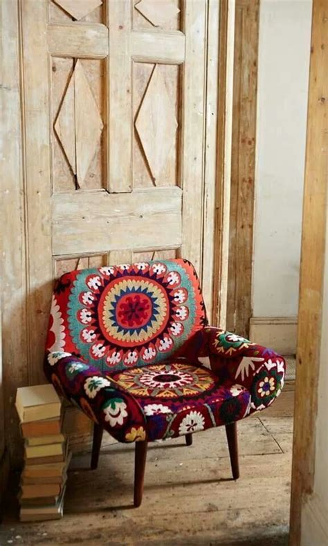 Boho Patchwork Chair - chair via folt bolt boho hanok