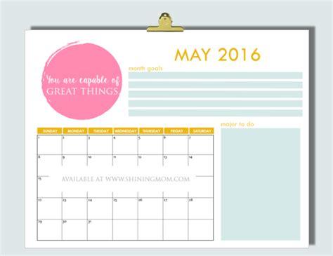 printable mom planner 2016 12 free printable calendars for may 2016