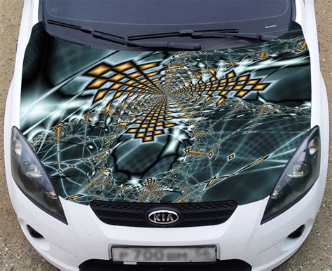 color graphic adhesive vinyl sticker fit any car