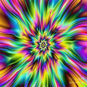 Peace Duvet Cover Psychedelic Supernova Digital Art By Colin Forrest