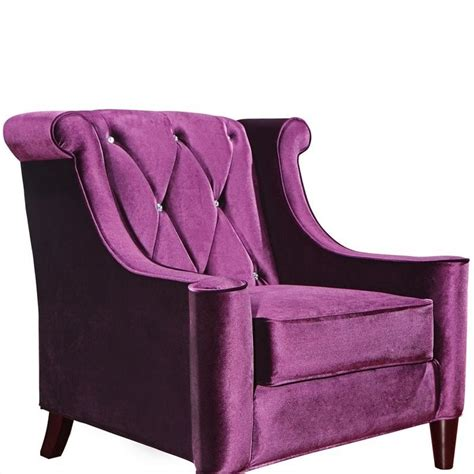 Purple Tufted Chair by Armen Living Barrister Tufted Club Chair In Purple