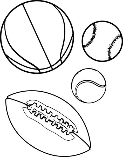 Free Printable Sports Balls Coloring Page For Kids Sports Coloring Page