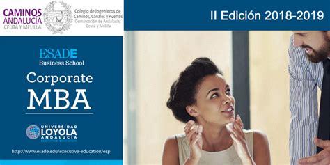 Mba Esade Precio by Ii Edici 243 N Corporate Mba Esade Loyola Executive 2018