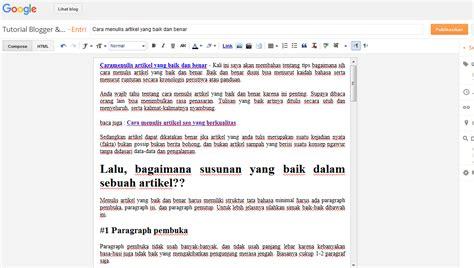 membuat artikel berkualitas cara menulis artikel yang baik dan benar tutorial