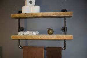 Vanity Shelves Bathroom Industrial Pipe Shelf Bathroom Shelves Kitchen By Reclaimedwoodusa