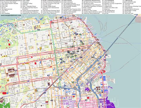 San Francisco Points Of Interest Map by City Maps San Francisco