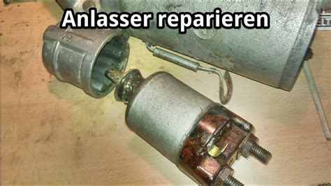 anlasser reparieren magnetschalter kontakt aufarbeiten