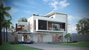 Home Exterior Design Models 3d Models Luxury Contemporary House 3d Model Max Obj