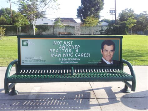 stop bench advertising calgary riders be on the look out for phil dunphy the source