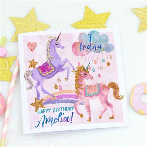 Children S Personalised Birthday Cards Personalised Children S Birthday Card Unicorn Magic By