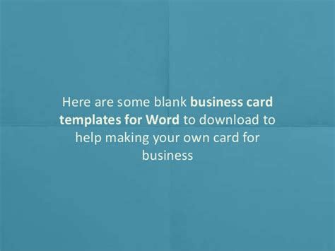 business card design template microsoft word printable blank business card design templates for ms word