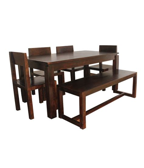 walnut dining bench set arizona walnut dining set table bench 4 chairs buy