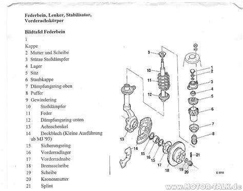Motorrad Gabel Richtig Einbauen by Explosionszeichnung Federbein Astra 35285 42276 Hilfe