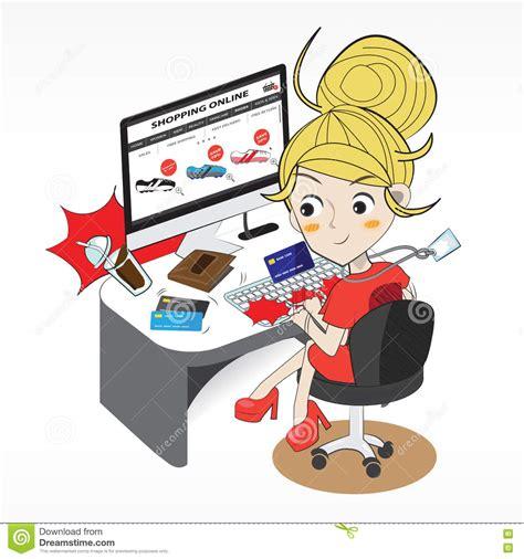 Superior Buy Christmas Cards Online #4: Shopping-online-cartoon-character-vector-eps-71412734.jpg