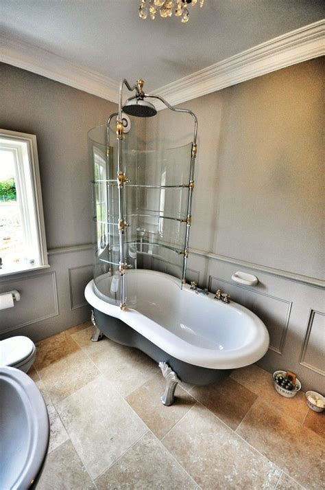 showering roll top bath 17 best images about shower on glasses tile and bath