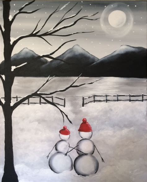 paint nite snowman peppercornz s weymouth 02 18 2016 paint nite event