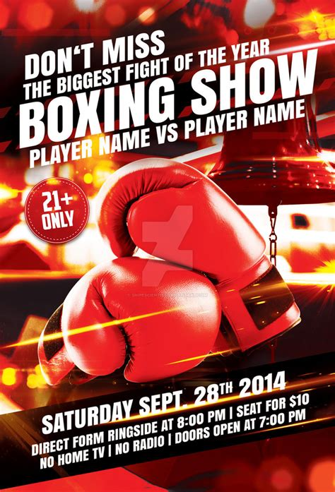boxing flyer template with 2 variations by snipescientist