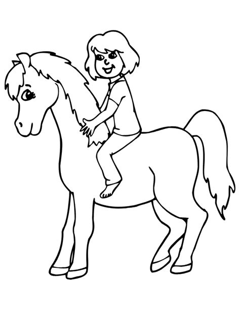 girl horses colouring pages