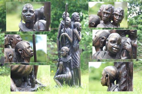 afrikanische len afrikanische familie der stamm kenia ebenholz