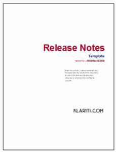 release notes template instant download