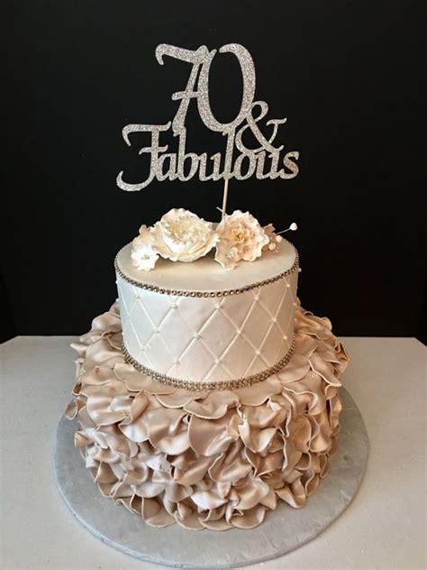 number gold glitter  birthday cake topper   fabulous fabulous  birthday cake